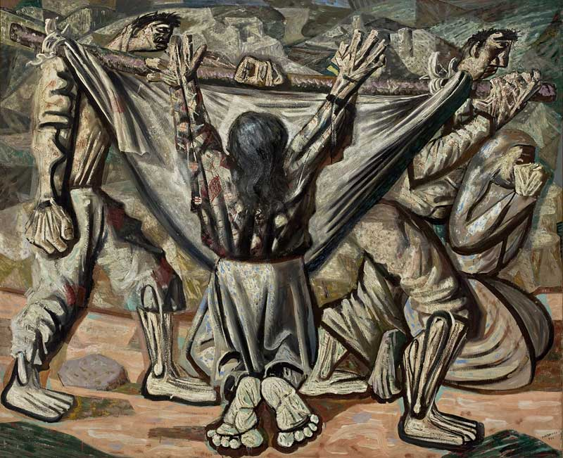 Candido Portinari's 1944 painting Enterro na Rede - Burial in the hammock