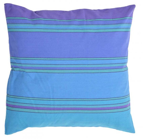 Organic Cushion Azur Striped
