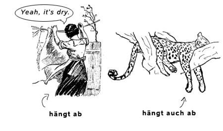 abhaengen-meaning