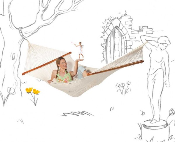 Organic Spreader Bar Net Hammock Raja