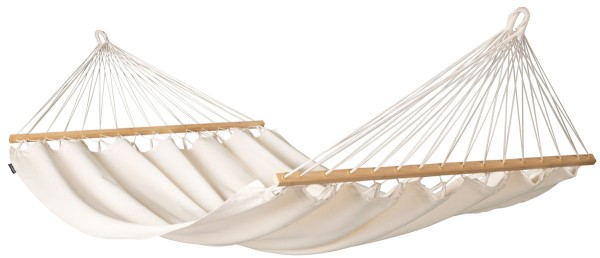 Organic Double Hammock with spreader bars Florencia Latte